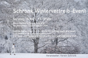 Sabine Reber liest am 18.03. auf dem Tschärisplatz beim Schronk!