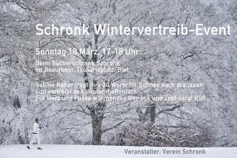 Read more about the article Sabine Reber liest am 18.03. auf dem Tschärisplatz beim Schronk!